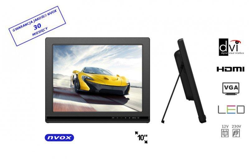 Monitor LCD 10cali cali LED HDMI DVI VGA AV 12V 230V... (NVOX FA1000)