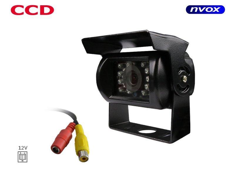 Samochodowa kamera cofania CCD SHARP w metalowej obudowie 12V 24V... (NVOX GD B2092 CCD)