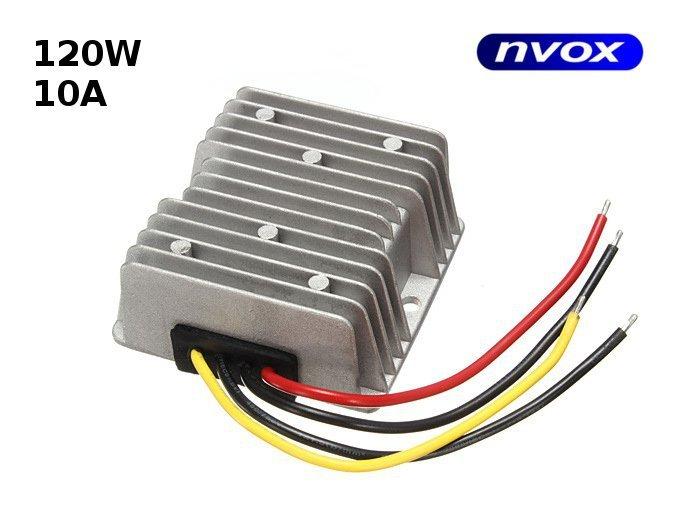 Przetwornica reduktor napięcia z 24V na 12V o mocy 120W... (NVOX MANOSTAT 10A)
