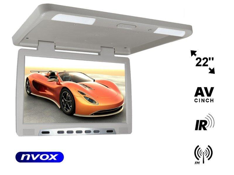 Monitor podwieszany podsufitowy LCD 22cali cale LED IR FM VGA... (NVOX RF2289 GR)