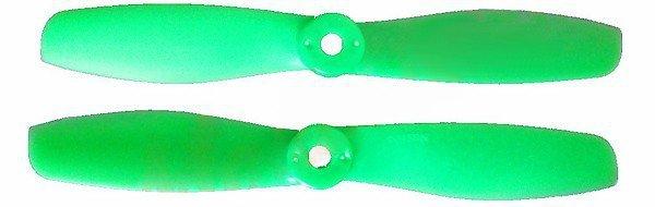 GEMFAN: Śmigła Gemfan Glass Fiber Nylon Bullnose 5x4.6 zielone (2xCW+2xCCW)