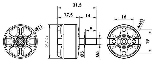 Zestaw dwóch silników bezszczotkowych T-MOTOR F60PRO 2200kV