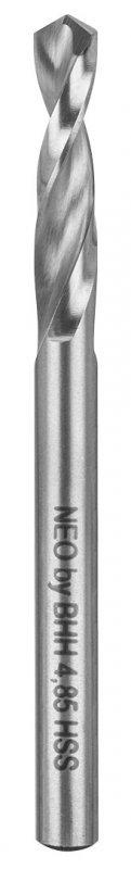 Wiertła do nitów, HSS, 2.5-6.5 mm, zestaw 5 szt.