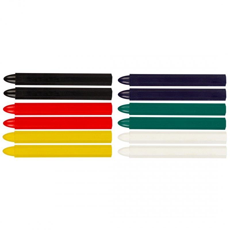 Kreda techniczna do znakowania, różne kolory, 12 sztuk
