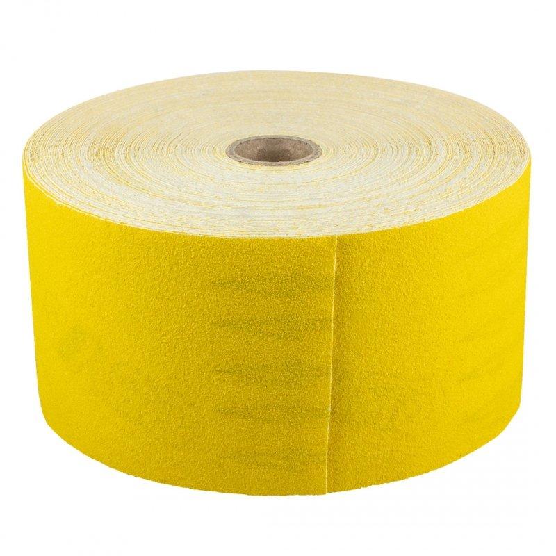 Papier ścierny żółty 115 mm, K80, rolka 50 m