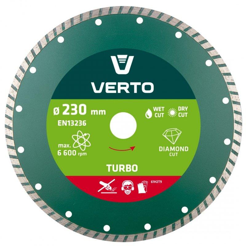 Tarcza diamentowa 230 x 22.2 mm, turbo