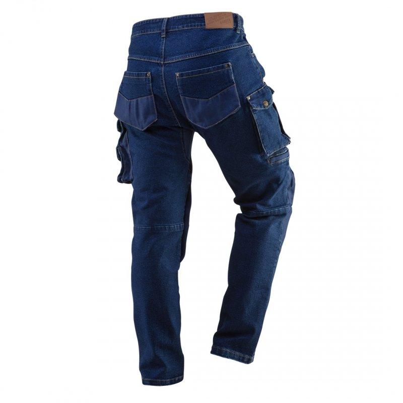 Spodnie robocze DENIM, wzmocnienia na kolanach, rozmiar M