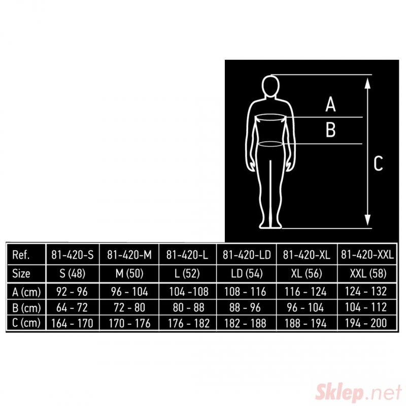 Spodnie robocze, rozmiar M/50
