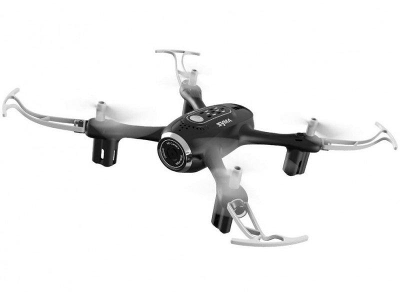 Syma X22SW (kamera FPV WiFi, 2.4GHz, żyroskop, auto start, zawis, zasięg do 25m, 17.6cm) - Czarny