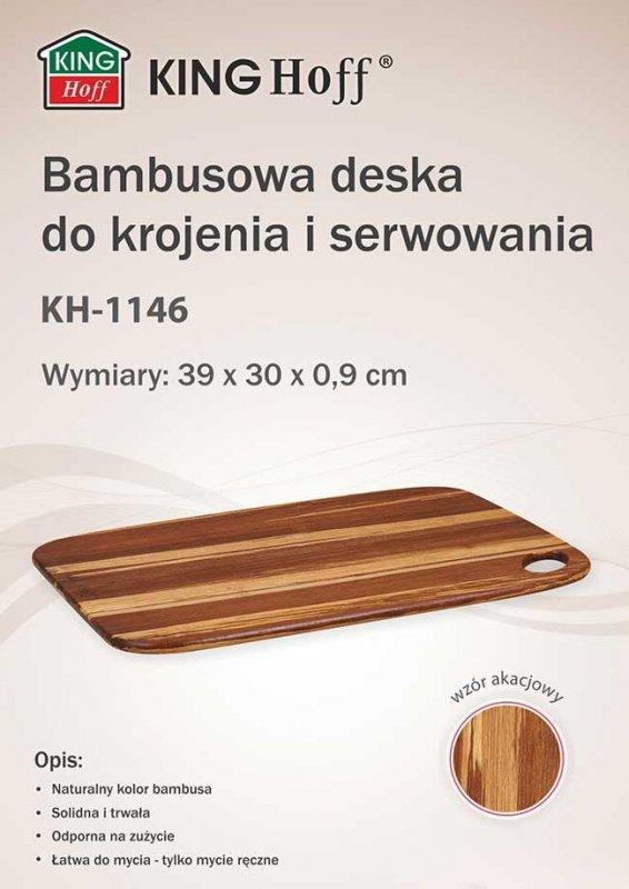 BAMBUSOWA DESKA KUCHENNA 39x30cm KINGHOFF KH-1146