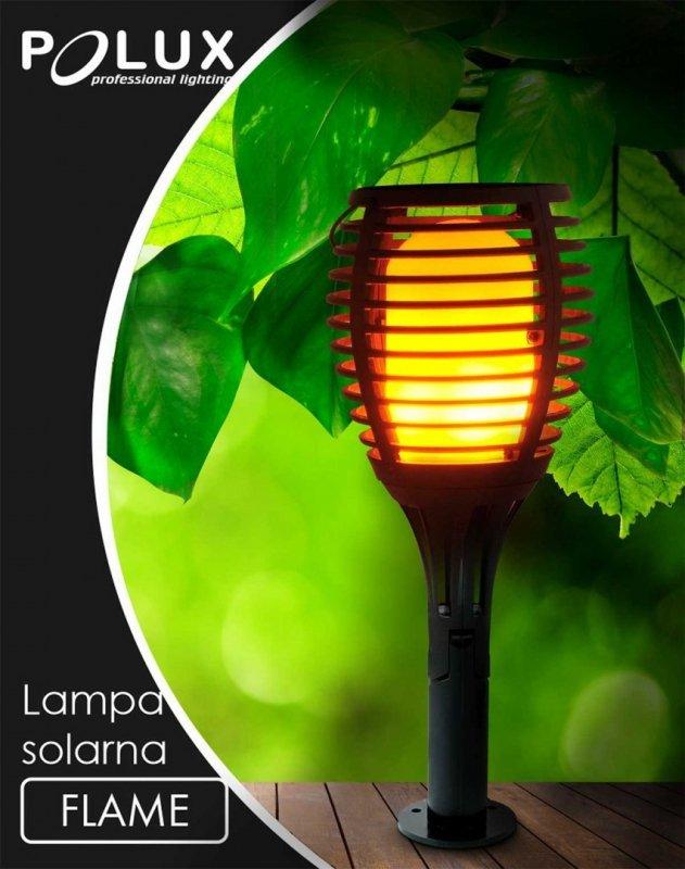 LAMPKA SOLARNA LED POCHODNIA PŁOMIEŃ EFEKT OGNIA