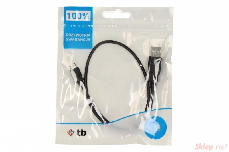 Kabel USB - Micro USB 50 cm. czarny
