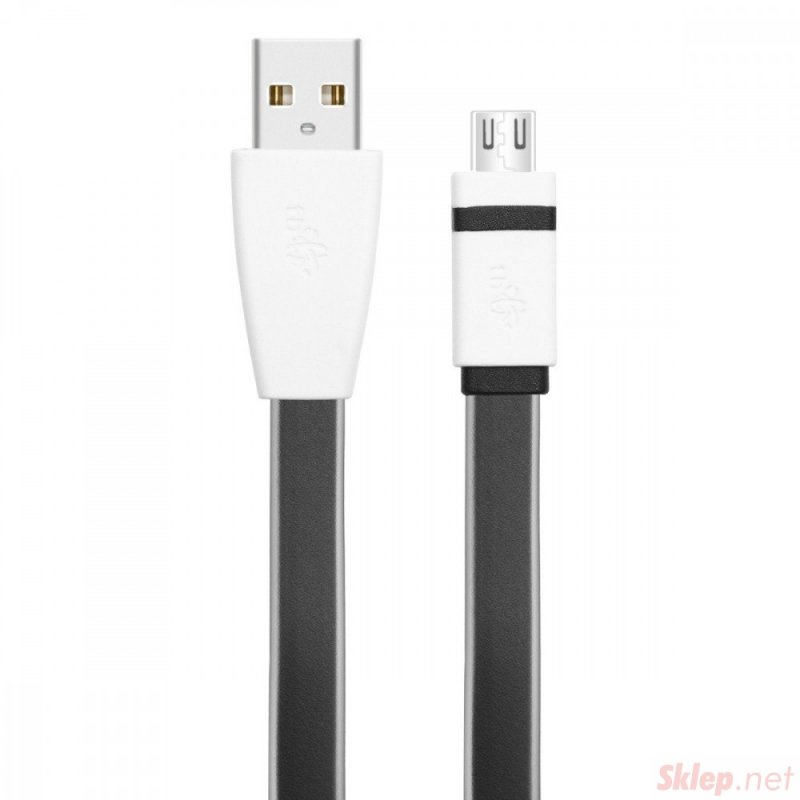 Kabel USB - Micro USB 1m czarny