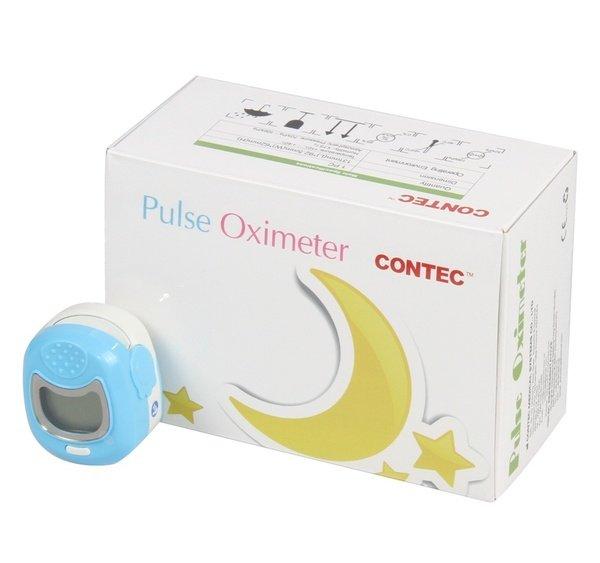 CONTEC CMS50QA niebieski Pulsoksymetr napalcowy pediatryczny