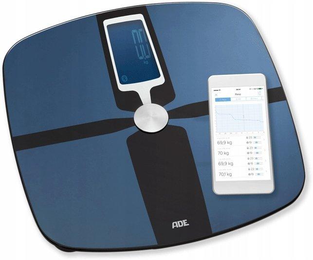 ADE FITVigo BA1600 Cyfrowa waga z analizą składu ciała czarna z Bluetooth