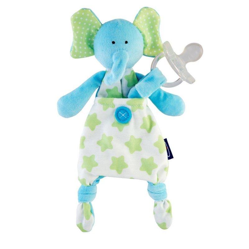 Chicco Pocket Friend 0m+-niebieski sloń Maskotka do smoczka dla dzieci 0m+