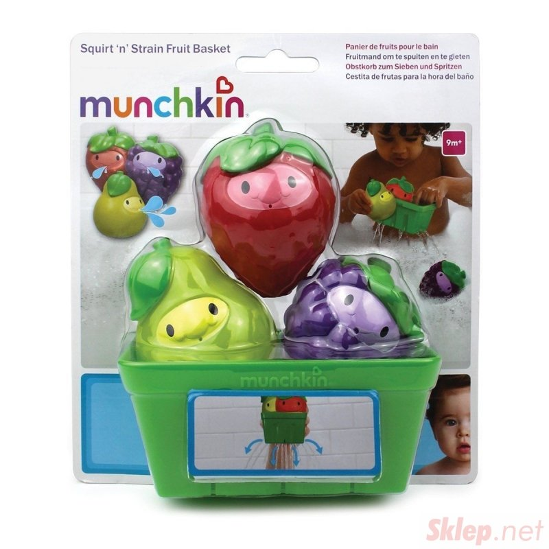 """Munchkin """"Kosz z owocami""""  Zabawka do kąpieli dla dzieci"""