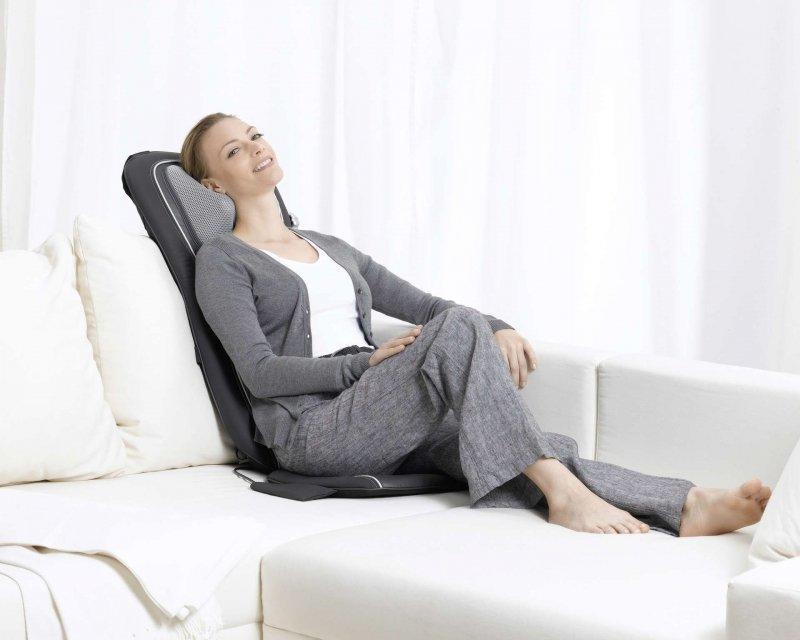 BEURER MG 260 black Mata do masażu shiatsu 2 w 1: Masaż relaksacyjny pleców i karku