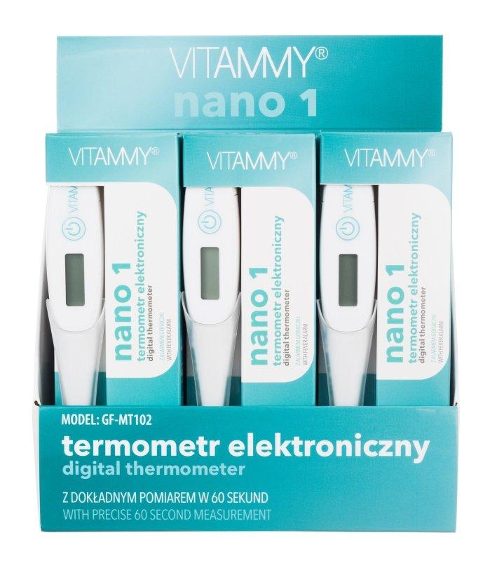 VITAMMY Nano 1 Termometr elektroniczny nowej generacji z alarmem gorączki