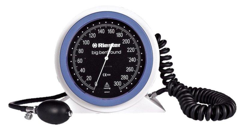 Riester Big Ben-24 - 32 cm RIESTER 1453 do biurkowego okrągłego Duży lekarski ciśnieniomierz zegarowy