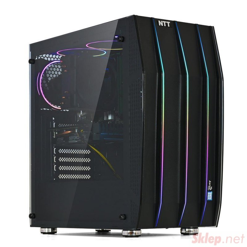Komputer do gier NTT Game X - i7-10700K, RTX 2060 8GB, 16GB RAM,  480GB SSD, W10