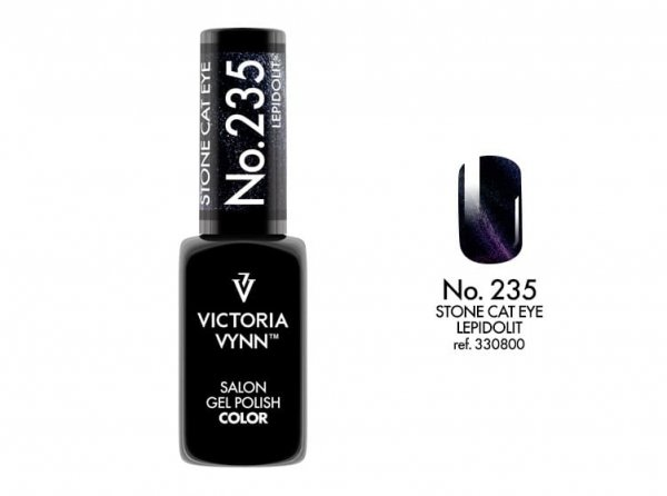 GEL POLISH LAKIER HYBRYDOWY CAT EYE LEPIDOLIT 8 ML (235) VICTORIA VYNN