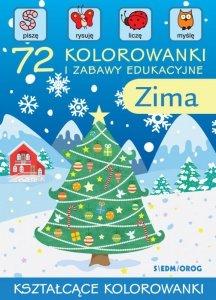 72 kolorowanki i zabawy edukacyjne. Zima