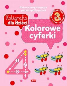Kolorowe cyferki. Kaligrafia dla dzieci