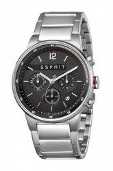Męski zegarek Esprit ES Equalizer czarny srebrny MB. ES1G025M0065