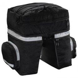 Sakwa rowerowa na bagażnik, 3-częściowa, czarna