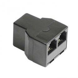 Hama Rozgałęźnik telefoniczny 6p4c GN. - 2x6p4c GN. 990448550000