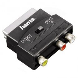 Adapter scart-3rca in/out