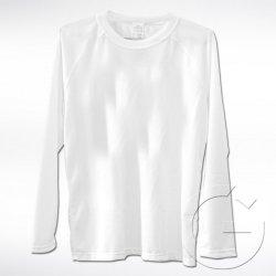 Biała koszulka z długim rękawem Lord. Rozmiar: XS