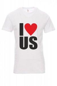 Koszulka biała - znakowanie - I LOVE US