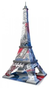 Ravensburger, Wieża Eiffla - Flaga, Puzzle 3D 216 elementów + gratis