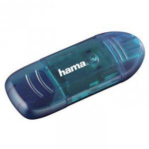 Czytnik kart pamięci SD/MicroSD/MMC 6w1 USB 2.0 niebieski - Hama