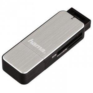 Czytnik kart pamięci SD/MicroSD USB 3.0 srebrny - Hama