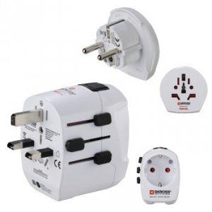 Adapter podrÓŻny zestaw world travel pro light 2xusb