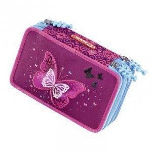 Piórnik szkolny XXL Shiny Butterfly z wyposażeniem - Step by Step Hama
