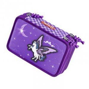 Piórnik szkolny XXL Pegasus Purple z wyposażeniem - Step by Step Hama