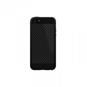 Etui do iPhone 5/5S/SE Material Case Real Carbon czarne - Black Rock