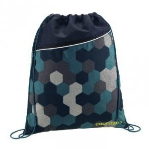 Worek na buty Rocket Pocket 2 Blue Geometric Melange - Coocazoo