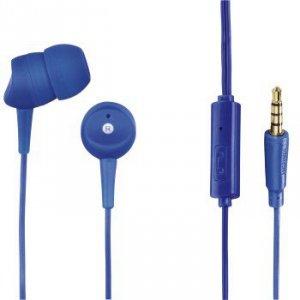 Słuchawki douszne Basic4phone z mikrofonem niebieski - Hama