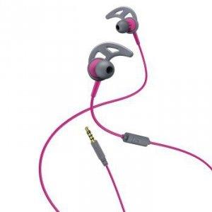 Słuchawki douszne Action różowo-szare - Hama