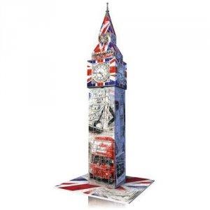 Ravensburger, Big Ben - Flaga, Puzzle 3D 216 elementów + gratis
