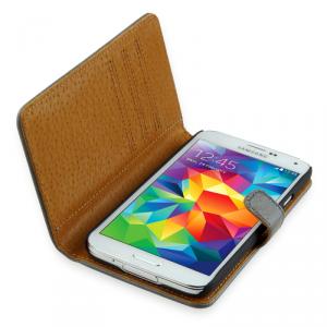 SKINK Book Etui Samsung Galaxy S5/S5 Neo szare