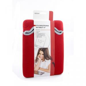 TREQ Etui uniwersalne na tablet 10 czerwone