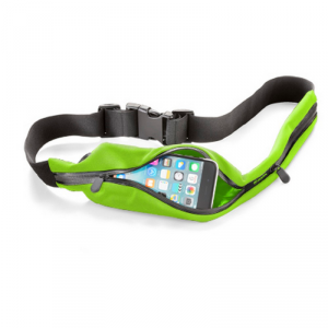 Pas biodrowy do biegania, zielony