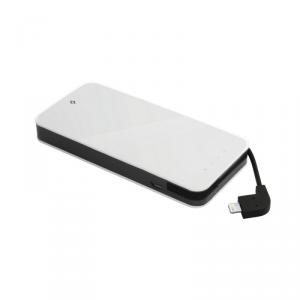 TTEC Easy Charge Slim Powerbank MFi 6000mAh USB biały (2BB110B)