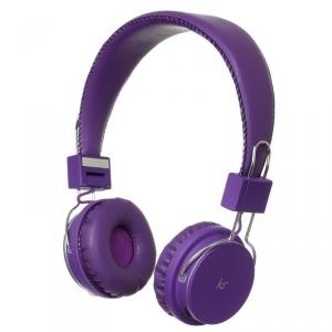 KITSOUND Manhattan Słuchawki nagłowne BT fioletowe